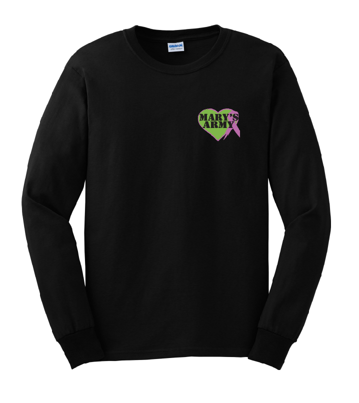Sm Logo tee shirt long sleeve black